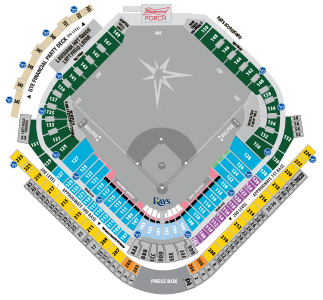 2021 Tampa Bay Rays Season Tickets (Includes Tickets To All Regular Season Home Games) at Tropicana Field
